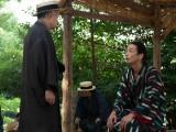 孝蔵(森山未來)に旅に出るよう告げる円喬(松尾スズキ)(C)NHK