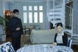 ドラマスペシャル アガサ・クリスティ『予告殺人』4月14日放送(左から)沢村一樹、大地真央(C)テレビ朝日