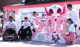 『500日前 東京2020 パラリンピックパーク in豊洲』トークイベントに出席した(左から)仲里依紗、中尾明慶 (C)ORICON NewS inc.