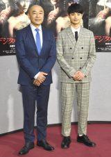 NHK『デジタル・タトゥー』の記者会見に出席した(左から)高橋克実、瀬戸康史 (C)ORICON NewS inc.
