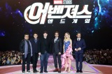 韓国・ソウル開催された映画『アベンジャーズ/エンドゲーム』ファンイベント(左から)アンソニー&ジョー・ルッソ兄弟、ケヴィン・ファイギ氏、ロバートダウニー Jr、ブリー・ラーソン、ジェレミー・レナー