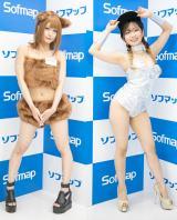 コスプレイヤー・赤羽ももさん(左)、黒江ケイさん(右) (C)oricon ME inc.
