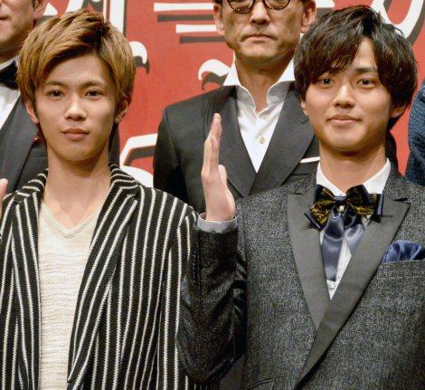 映画共演を喜んだ(左から)神宮寺勇太、永瀬廉 (C)ORICON NewS inc.