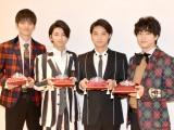 (左から)山本涼介、飯島寛騎、磯村勇斗、稲葉友 (C)ORICON NewS inc.