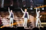 新しい地図初のファンミーティング22公演を終えた(左から)稲垣吾郎、香取慎吾、草なぎ剛 撮影:渡邉一生