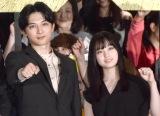 映画『キングダム』初日舞台あいさつに登場した(左から)吉沢亮、橋本環奈 (C)ORICON NewS inc.