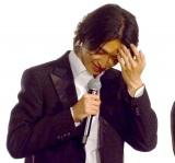 大粒の涙を流した山崎賢人=映画『キングダム』初日舞台あいさつ (C)ORICON NewS inc.