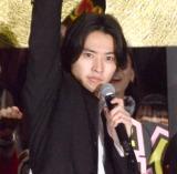 映画『キングダム』初日舞台あいさつに登場した山崎賢人 (C)ORICON NewS inc.