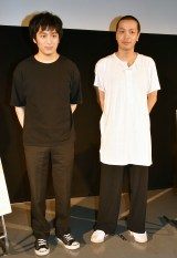 映画『いちごの唄』(7月5日公開)ワールドプレミアで爆笑トークを繰り広げた(左から)古舘佑太郎、峯田和伸 (C)ORICON NewS inc.