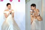 結婚情報誌『ゼクシィ』の12代目CMガール新CM発表会に出席した(左から)白石聖、泉ピン子(C)ORICON NewS inc.