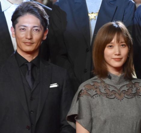 (左から)玉木宏、本田翼=映画『空母いぶき』完成披露試写会 (C)ORICON NewS inc.