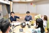 文化放送『岩本勉のまいどスポーツ』の生放送の様子
