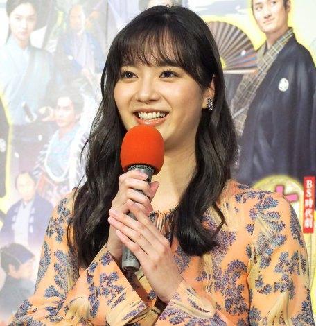 NHK BS時代劇『大富豪同心』の試写会に出席した新川優愛 (C)ORICON NewS inc.
