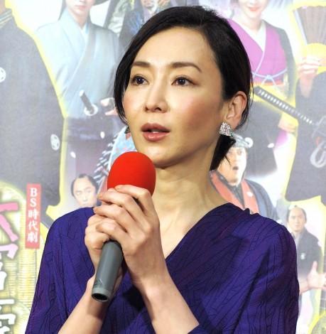 NHK BS時代劇『大富豪同心』の試写会に出席した稲森いずみ (C)ORICON NewS inc.