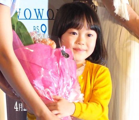 WOWOW『連続ドラマW 坂の途中の家』の完成披露試写会に出席した松本笑花 (C)ORICON NewS inc.