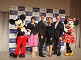 米国ディズニーリゾートの最新情報プレス発表会にミッキー&ミニーが登場 (C)ORICON NewS inc.