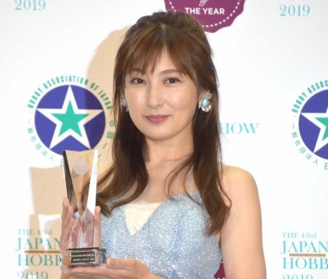 """最大の愛情表現は""""ハンドメイド""""と語った熊田曜子=『第43回2019日本ホビーショー』内のイベント「JAPAN Handmade of THE YEAR 2019」授賞式(C)ORICON NewS inc."""
