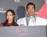 『TAMASHII NATIONS TOKYO』のオープニングイベントに参加した(左から)宇垣美里、遠藤憲一 (C)ORICON NewS inc.