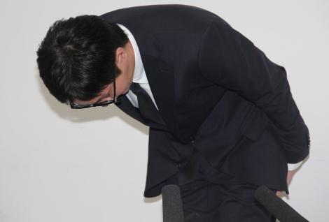謝罪会見に臨んだAAA・浦田直也 (C)ORICON NewS inc.