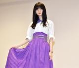 ミュージックビデオの衣装で視聴会に登壇した齋藤飛鳥 (C)ORICON NewS inc.