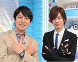 金曜『ZIP!』は月替りメインパーソナリティー制に 5月はDAIGOに決定(左から)桝太一アナ、DAIGO (C)日本テレビ