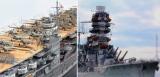 (左画像)1/700 旧日本海軍航空母艦「赤城」、(右画像)1/700 旧日本海軍航空戦艦「伊勢」 制作:R工廠