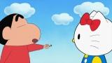 テレビ朝日系アニメ『クレヨンしんちゃん』ハローキティが出演する「キティちゃんVS(たい)ブリィちゃんだゾ」は5月10日放送(C)U/F・S・A・A  (C)'76, '19 SANRIO