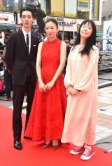 (左から)清水尋也、松雪泰子、大九明子監督
