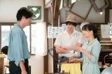 (左から)仲努(井浦新)、山田陽平(犬飼貴丈)、なつ(広瀬すず)(C)NHK