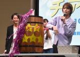 巨大な黒ひげ危機一髪を実施=映画『チア男子!!』の公開直前イベント (C)ORICON NewS inc.