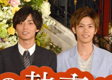 ファン反応にショックを受けていてたKing & Prince(左から)永瀬廉、神宮寺勇太=映画『うちの執事が言うことには』公開記念パーティー (C)ORICON NewS inc.