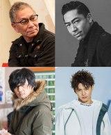 映画『Beautiful』(上段左から)三池崇史監督、EXILE AKIRA、映画『魔女に焦がれて』(下段左から)井上博貴監督、佐藤大樹