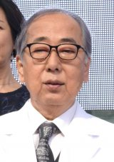テレビ朝日開局60周年記念 5夜連続ドラマスペシャル『白い巨塔』の制作発表会見に出席した岸部一徳