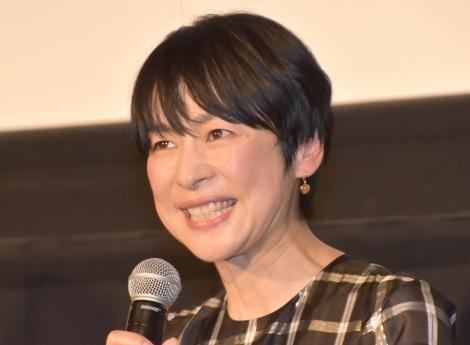 映画『初恋〜お父さん、チビがいなくなりました〜』の公開初日舞台あいさつに登壇した西田尚美 (C)ORICON NewS inc.