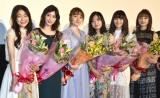 (左から)さいとうなり、松田るか、小島藤子、北原里英、浅川梨奈、小宮有紗 (C)ORICON NewS inc.