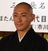 『市川會』三代襲名披露発表に出席した市川海老蔵 (C)ORICON NewS inc.