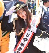渋谷警察署の一日警察署長に就任した西野未姫 (C)ORICON NewS inc.