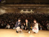中村勘九郎と柏原竜二氏らが出演した、大河ドラマ「いだてん」トークツアーin静岡県御殿場市の模様(C)NHK