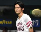 ヤフオクドームでの始球式に登場した岡田健史 (C)ORICON NewS