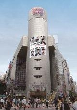 5月24日から渋谷・SHIBUYA109のシリンダーに掲出されるビジュアルイメージ