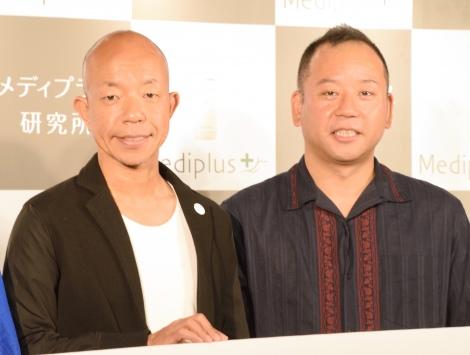 『ストレスオフ県ランキング2019』の記者発表会に出席したバイきんぐ(左から)小峠英二、西村瑞樹 (C)ORICON NewS inc.