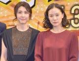 実家でのルールを明かした(左から)竹内結子、蒼井優=映画『長いお別れ』舞台あいさつ (C)ORICON NewS inc.
