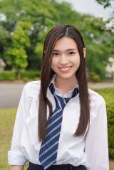 FBS開局50周年スペシャルドラマ『博多弁の女の子はかわいいと思いませんか?』に出演する長見玲亜(C)FBS