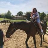 ぺこと一緒に馬に乗るリンクくん(写真はオフィシャルブログより)
