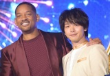 イベントに大興奮していた(左から)ウィル・スミス、中村倫也 (C)ORICON NewS inc.