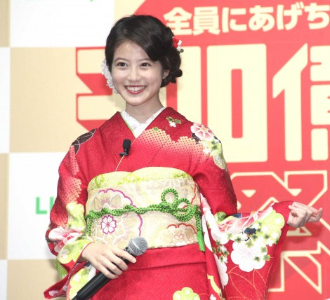 『LINE・LINE Pay』記者発表会に出席した今田美桜 (C)ORICON NewS inc.