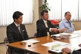日曜劇場『集団左遷!!』第5話に出演する宮川一朗太、赤井英和、三遊亭小遊三(C)TBS