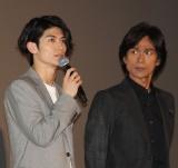 (左から)三浦春馬、江口洋介=映画『コンフィデンスマンJP』初日舞台あいさつ (C)ORICON NewS inc.