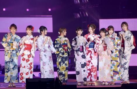 『Rakuten GirlsAward 2019 SPRING/SUMMER』に浴衣姿で登場した乃木坂46 (C)ORICON NewS inc.