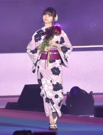 『Rakuten GirlsAward 2019 SPRING/SUMMER』に浴衣姿で登場した乃木坂46・齋藤飛鳥 (C)ORICON NewS inc.
